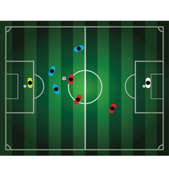 soccer football game vector image vector image