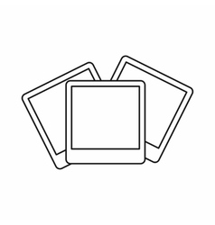 Wedding invitation cards icon outline style vector image