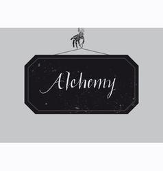Alchemy vector image