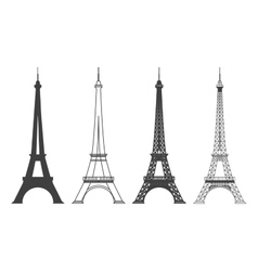 Eiffel Tower in Paris Silhouette vector image