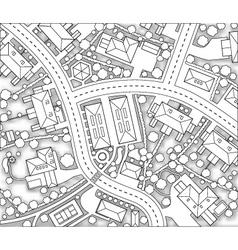 neighborhood cutout vector image