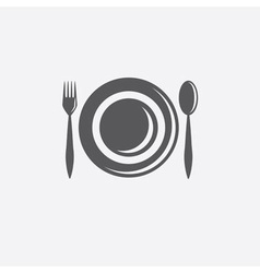 forkspoon and plate design template vector image
