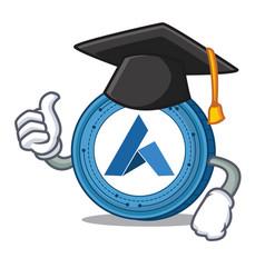 graduation ardor coin character cartoon vector image vector image