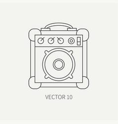 Line flat icon musical equipment - guitar vector