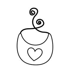 baby bib isolated icon vector image