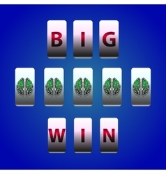 Counter Big Win Slots Brain symbol vector image
