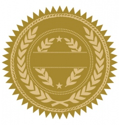 gold seal vector image vector image