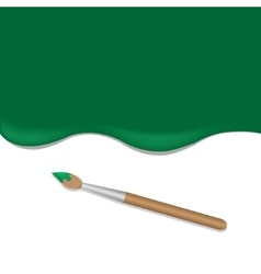 Green background with brush vector image