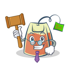Judge tea bag character cartoon art vector