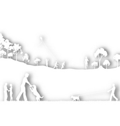 park cutout vector image vector image