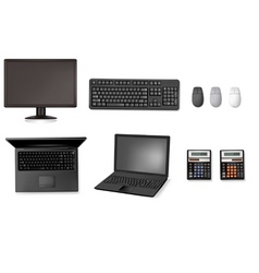 set of computers vector image vector image