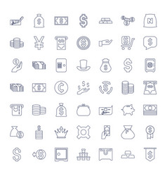 49 wealth icons vector