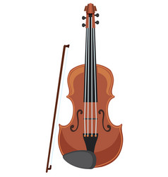 A violin on white background vector