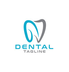 abstract dental logo design template vector image