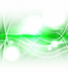 Abstract Green wave on white background vector