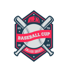Baseball cup vintage isolated label vector