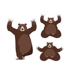 Bear meditates Wild animals on white background vector image vector image