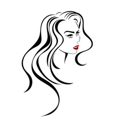beauty hair icon vector image
