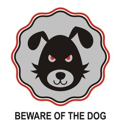Beware of dog vector