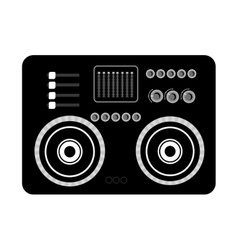big black stereo graphic vector image