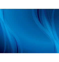 blue background with wavy lines vector image
