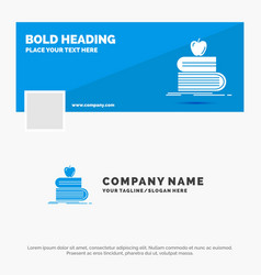 blue business logo template for back to school vector image