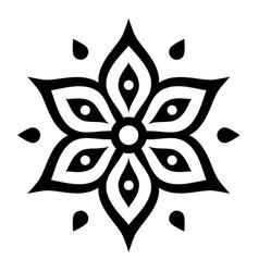 Boho flower design inspired mehndi - indian vector