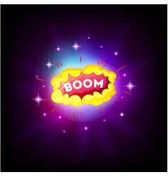 boom white comic text speech bubble explosion vector image