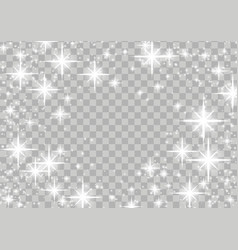Bright shimmering star glow magical frame layout vector