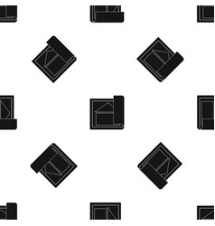 building plan pattern seamless black vector image