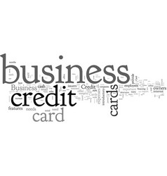 Business credit cards guide vector