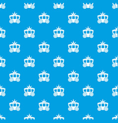 carriage pattern seamless blue vector image