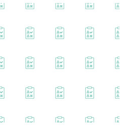 Check list icon pattern seamless white background vector