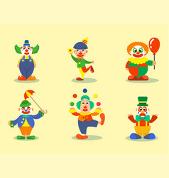 clown circus man characters performer vector image
