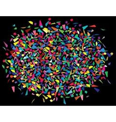 Colorful splinters vector