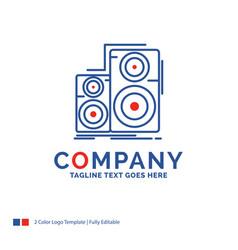 Company name logo design for audio hifi monitor vector