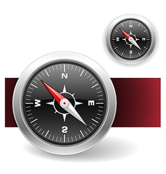 Compass icons vector image vector image