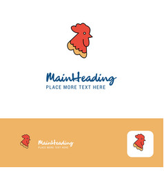 creative cock logo design flat color logo place vector image