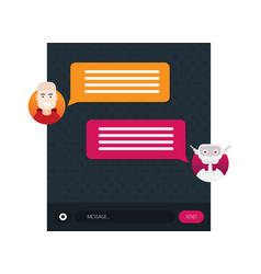 dialog with bot flat modern style cartoon vector image