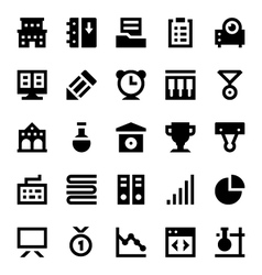 Education and School Icons 5 vector image