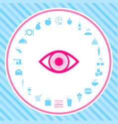 Eye - halftone logo vector