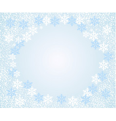 falling snowflakes light blue background vector image