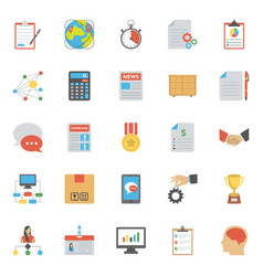 Flat icons of project management vector