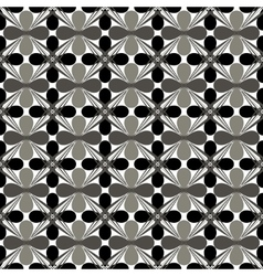 Flower gray seamless pattern vector image