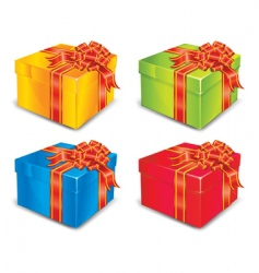 four boxes vector image