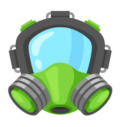 gas mask icon uniform face protective equipment vector image