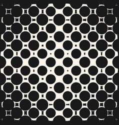 halftone circles seamless pattern geometric vector image