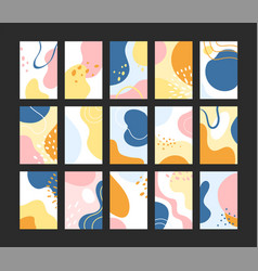 hand drawn shapes textures vector image