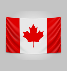 Hanging flag of canada canada national flag vector