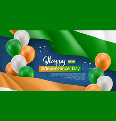 Happy independence day horizontal flyer vector